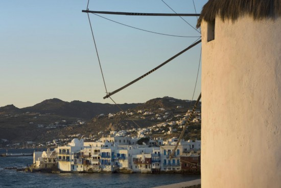 Mykonos Windmills view